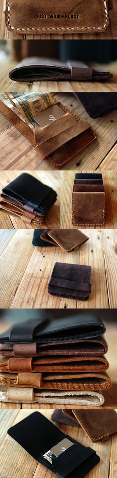 simple leather wallet man: