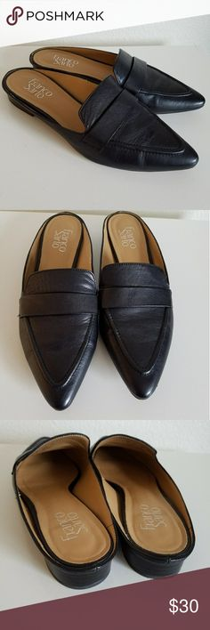 Franco Sarto black mules. Like new and in great condition . Too small for me. Franco Sarto Shoes Flats & Loafers