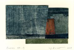 Yuko Kimura Journey through Mushikmi No.19, 2010 etching and enamel on copper, collage 3 x 5.25 inches 7.6 x 13.3 cm