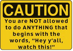 Caution Rule Sign