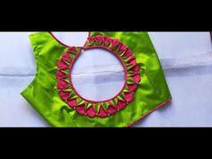 Cutwork Blouse Designs, Patch Work Blouse Designs, Simple Blouse Designs, Stylish Blouse Design, Chudithar Neck Designs, Hand Designs, Designer Blouse Patterns, Blouse Neck Patterns, Rangoli Designs Flower