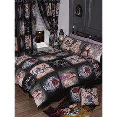 Alchemy Gothic Story Of The Rose Bedroom Bedding Duvet Quilt Cover Red Black Rose Duvet Cover, Black Duvet Cover, Bed Duvet Covers, Duvet Sets, Duvet Cover Sets, Rose Bedroom, Bedroom Bed, Gothic Bedroom, Fairy Bedroom