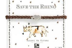 Save the Rhino charity bracelet by Joya on hellopretty.co.za