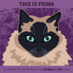Custom Pet Portraits by Jen Kent at Bubble Cat. Illustrations done from photos of your pet, specializing in cats and dogs Bubble Cat, Gift Drawing, Cat Illustrations, Memorial Gifts, Siamese, Dog Photos, Pet Portraits, Dog Cat, Art Prints