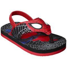 $9 BOGO50% Target Toddler Boy's Marvel Spiderman Flip Flop - Black