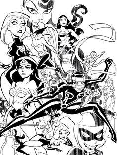 Women of the DC Universe Sketch by Bruce Timm