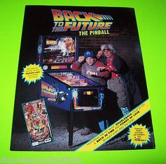 BACK-TO-THE-FUTURE-By-DATA-EAST-1989-ORIGINAL-NOS-PINBALL-MACHINE-SALES-FLYER #pinballflyer #spaceage #pinball