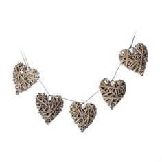 Homely wooden heart garlands from Cargo, we love them :-)