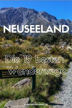 Wandern in Neuseeland ist wunderschön, aber welche Wanderwege soll man nur auswählen? Tourism New Zealand hat die 19 besten Short Walks und Day Walks ausgewählt, und wir stellen sie euch vor.  #Neuseeland #Wandern #NeuseelandmitKind