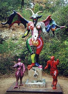 """tarot garden devil.  The Devil symbolises enslavement and """"the loss of personal freedom through addictions of any kind""""."""