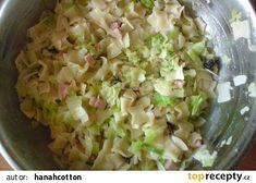 Těstoviny se zelím podle mojí babičky recept - TopRecepty.cz Czech Recipes, Ethnic Recipes, Potato Salad, Cabbage, Food And Drink, Easy Meals, Cooking Recipes, Potatoes, Pasta