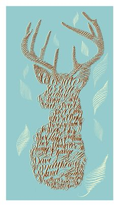 Even though it's a DMB poster, I think this could be copied in a similar style with any words.