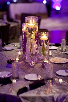 Eligible exceeded classy wedding centerpieces why not try here Orchid Centerpieces, Floating Candle Centerpieces, Pumpkin Centerpieces, Simple Centerpieces, Wedding Table Centerpieces, Centerpiece Decorations, Wedding Decorations, Purple Centerpiece Wedding, Floating Candles Wedding