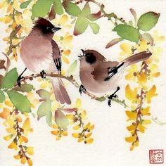"""""""At the Frosted Bridge"""" - Original Fine Art for Sale - © Jinghua Gao Dalia"""