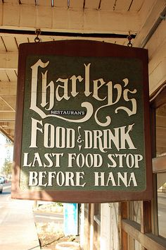 Charley's Restaurant  Paia ~ Great little place to stop & eat!!