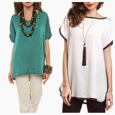 Look inspiracao: Camisas mullet, batas, túnicas... ~ Tatiana, um simples vaso