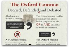 Infographic: The Oxford comma debate | Articles | Main