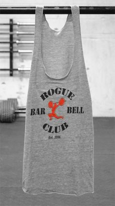 Rogue barbell racerback tank for showing off the traps.