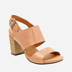 7c7661ced84 Banoy Tulia Beige Leather Clark Heels