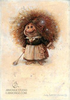 Coockie the Brownie , Jean-Baptiste Monge on ArtStation at https://www.artstation.com/artwork/a0yJ0