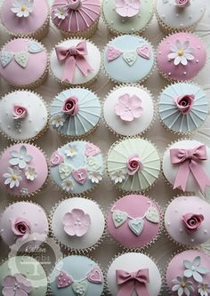 Vintage Christening Cupcakes by cottonandcrumbs.co.uk