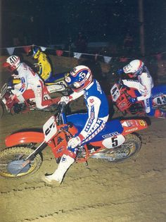 1986 with Richy Johnson and Micky Dymond. This is the 250cc class and what I believe to have the most talent of any year.  Photo courtesy of Vintage Factory