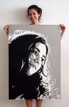 Paper Cut Portrait