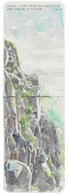 """Saatchi Art Artist Richard Johnson; Drawing, """"North third cliffs"""" #art"""