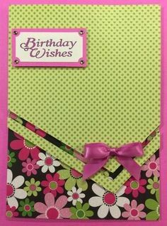 Birthday card ideas for women flowers layout 47 ideas - - Birthday Cards For Women, Happy Birthday Cards, Handmade Birthday Cards, Greeting Cards Handmade, Birthday Wishes, Bday Cards, Cricut Birthday Cards, Cricut Cards, Pretty Cards