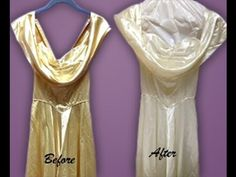 Wow! Watch our video to see Before and Afters #vintage #wedding gowns