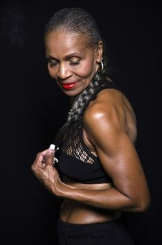 """Earnestine Shepherd, 74-year-old body builder.  Didn't start working out until she was 54."""