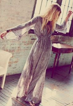 Maxi Boho Dress 70's Style by LadyAddict