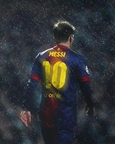 Messi in the rain.