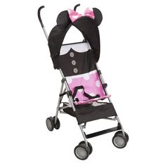 MINNIE MOUSE Dress Up Comfort Height Umbrella Stroller