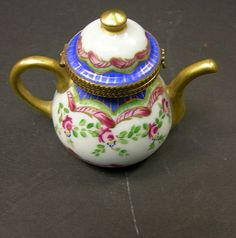 French Limoges Teapot Box