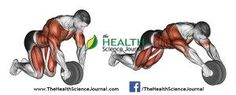 © Sasham | http://Dreamstime.com - Exercising for bodybuilding. Straightening simulator wheel