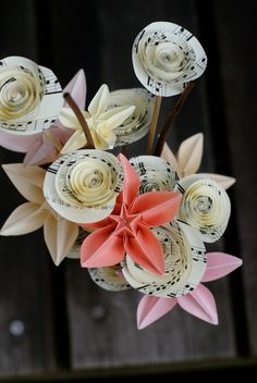 sheet music bouquet on #etsy $33