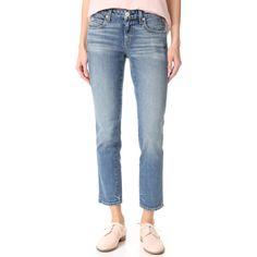 AMO Kate Crop Straight Leg Jeans (17,885 INR) ❤ liked on Polyvore featuring jeans, cuffed straight leg jeans, cropped jeans, 5 pocket jeans, cuffed cropped jeans and blue jeans