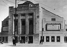 Balmore Rd Possil near Hawthorn street 1932 Glasgow Architecture, Cinema Theatre, Glasgow Scotland, Dancing, Shops, Memories, Street, Building, Pictures