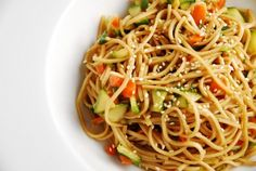 Oriental Cold Noodles Recipe – 6 Points + - LaaLoosh.  Sweet and tangy, this cold noodles recipe is incredibly easy to make and super delicious. It makes an excellent Weight Watchers salad recipe. It's light, flavorful and very satisfying.