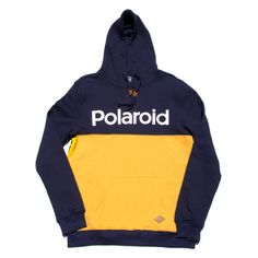 An ode to one of the pioneering photography brands of the last century is nicely captured in this Polaroid Hoodie by Altru. The Navy and Blue color design fit the style excellently. Please allow 1-3 w