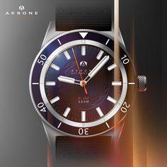 Akrone C02 : Montre de Plongée Automatique | Akrone Father Time, Omega Watch, Smart Watch, Clock, Watches, Accessories, Design, Automatic Watch, Watch