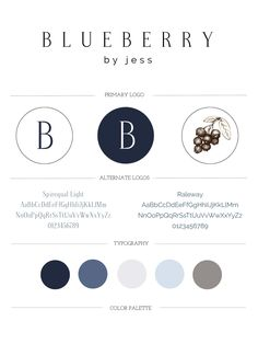 Blueberry by Jess Branding | Designed by Writefully Simple