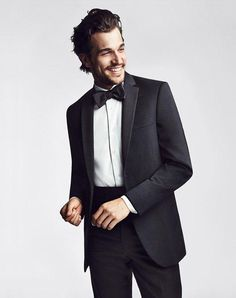 Two-Button Super 130s Notch Lapel Tuxedo | The Men's Wearhouse® BLACK by Vera Wang | http://www.theknot.com/fashion/1130-black-by-vera-wang-tuxedo