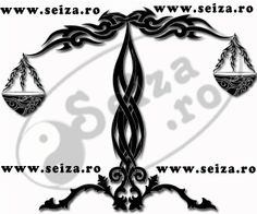Original tribal tattoo for the peoples born under the sign of Libra.