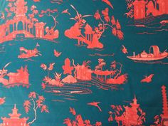 Toile de Jouy picture by Alessandra Branca exclusive for Schumacher. Coromandel £17/m available to buy at dwfabric.co.uk