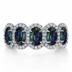 Omi Prive: Alexandrite and Diamond Ring Style: RC1200-ALOV