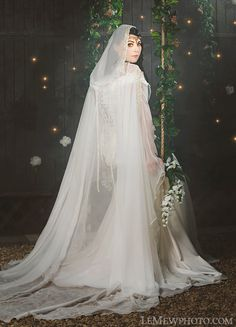 Juliana Princess Medieval Fantasy Gown with Cape and Belt Custom LOTR. $850.00, via Etsy.