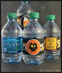 FREE printable Halloween Water Bottle Labels