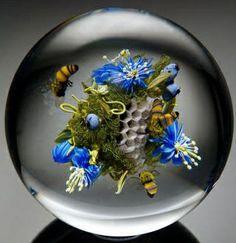 Fun Duniya: Modern Glass PaperWeight Art by Paul J Stankard from New Jersey